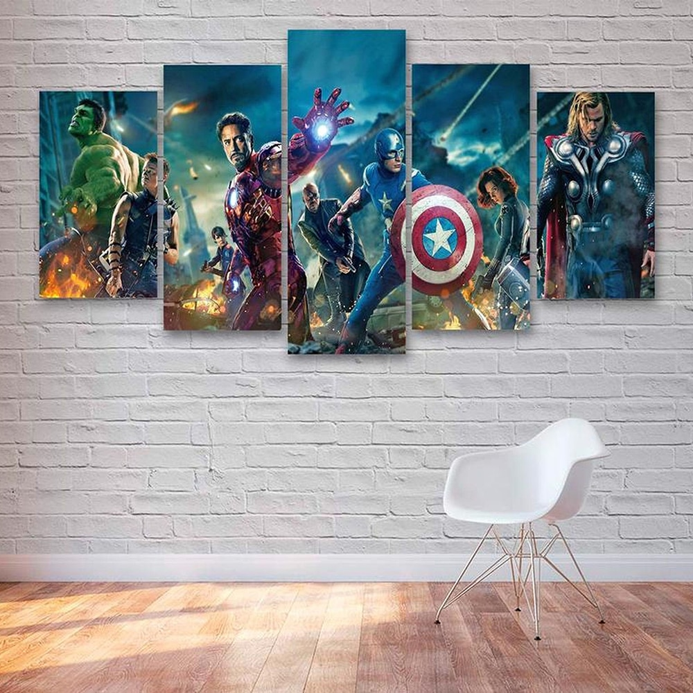 Superhero Movie Canvas Painting And Print Marvel Avengers Film Poster Iron Man Wall Art Picture Living Bedroom Home Decoration