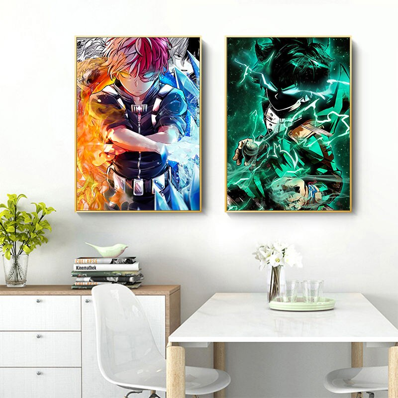 Japanese Anime My Hero Academia Poster Pictures Comics Wall Art Canvas Painting for Bedroom Living Room Home Decoration Cuadros